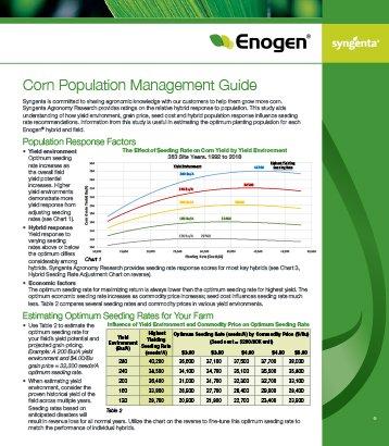 Enogen Corn Population Management Guide