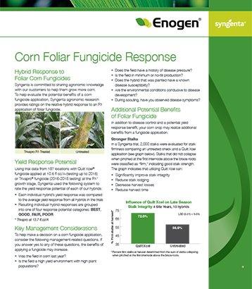 Enogen Corn Foliar Fungicide Response Sheet